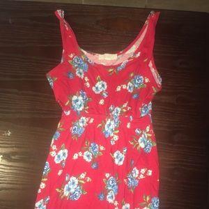 Red floral forever 21 dress